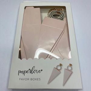 🚨3/$30🚨 PAPER LOVE FAVOR BOXES BRIDAL WEDDING